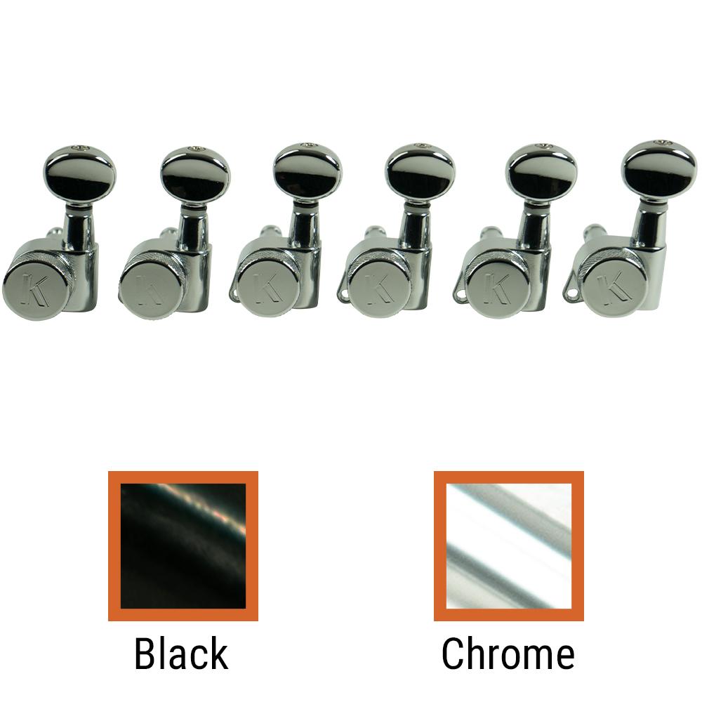 Kluson 6 In Line Left Hand Locking Contemporary Diecast Series Tuning Machines