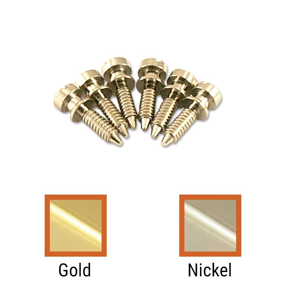 Kluson USA Brass Intonation Screw Set Of 6 For Wired ABR-1 Tune-O-Matic Bridges