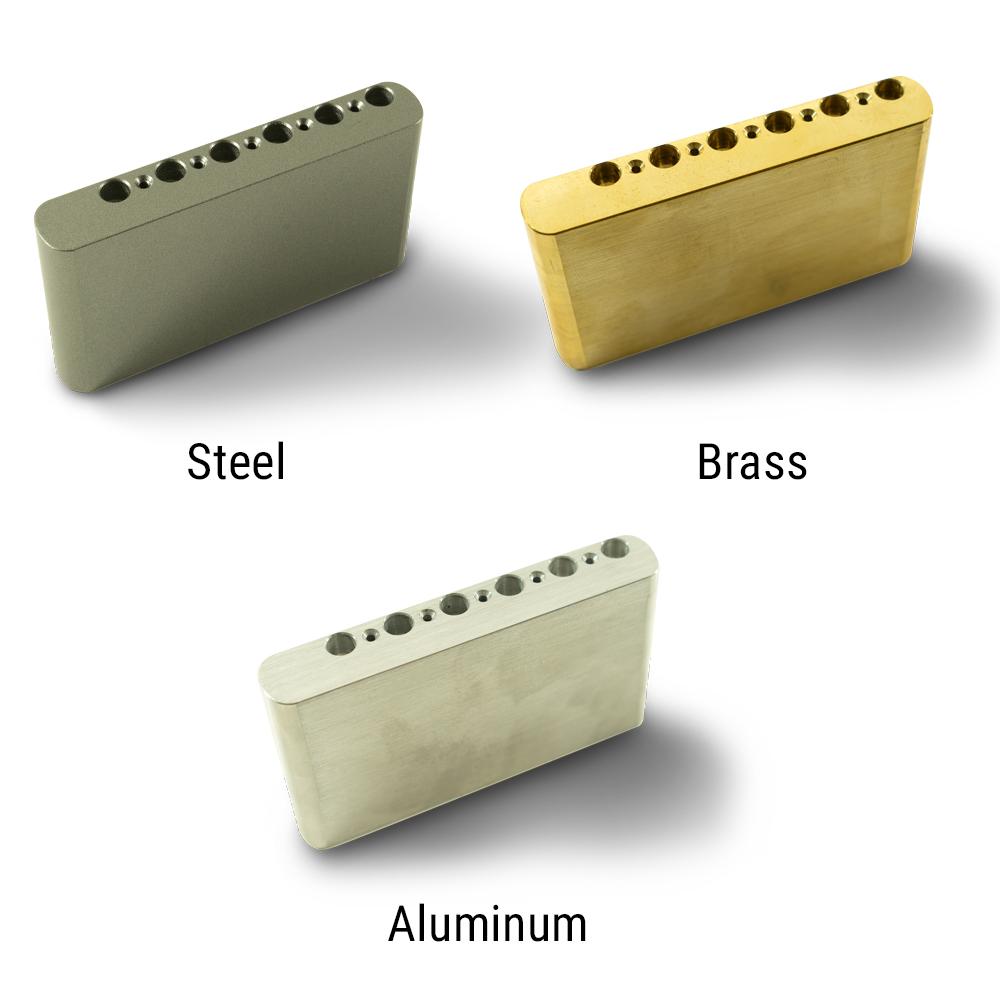 Kluson Milled Narrow Aluminum, Steel, Or Brass Sustain Block For Vintage Tremolos