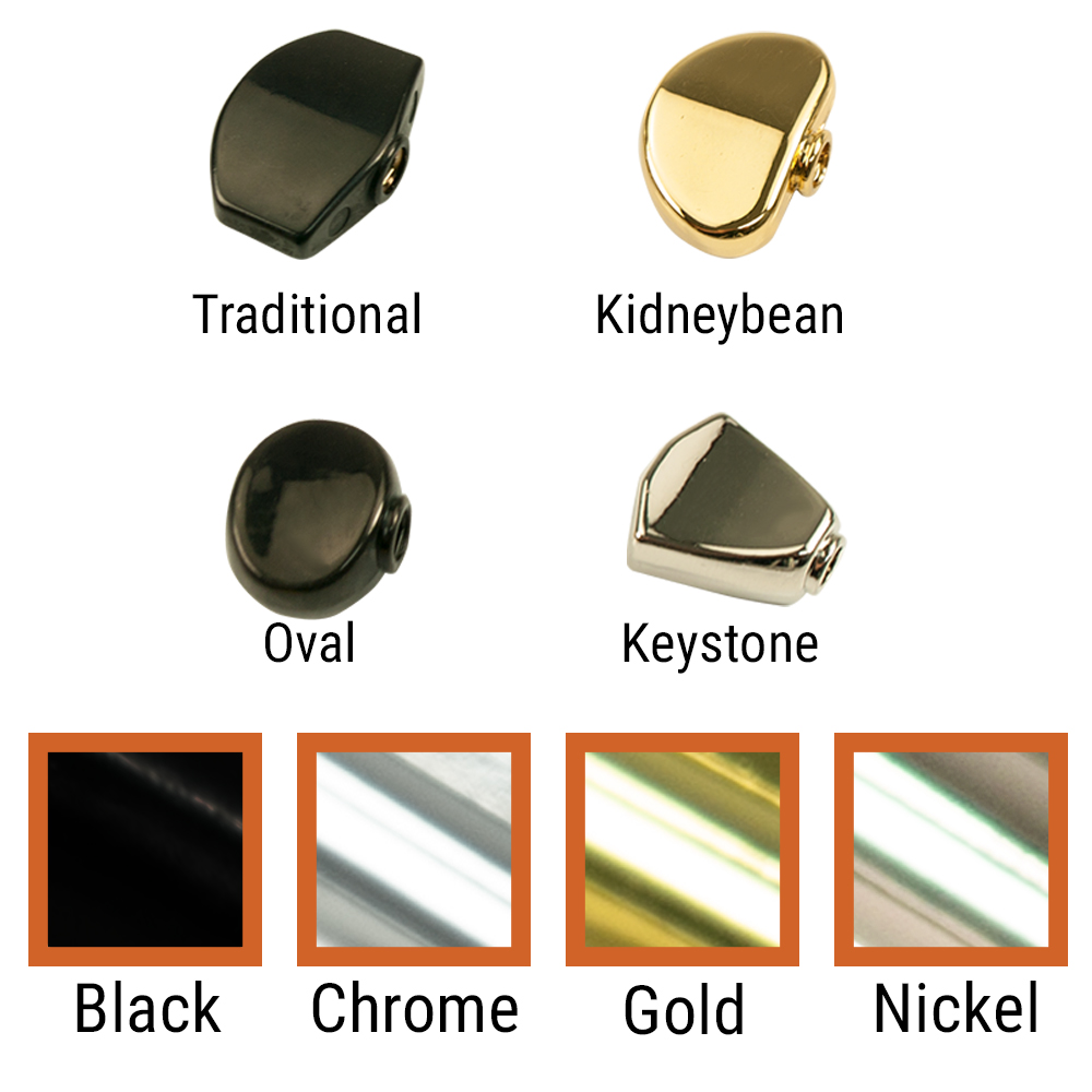 Kluson Replacement Button Set For Contemporary Diecast Series Tuning Machines