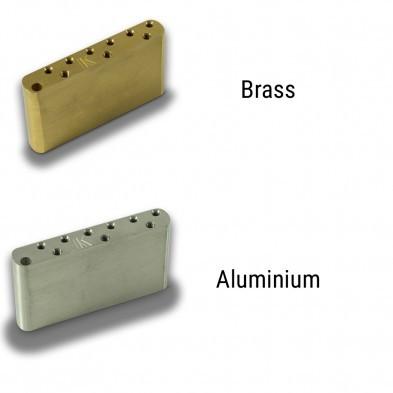 Kluson® Milled Aluminum Or Brass Left Hand Sustain Block