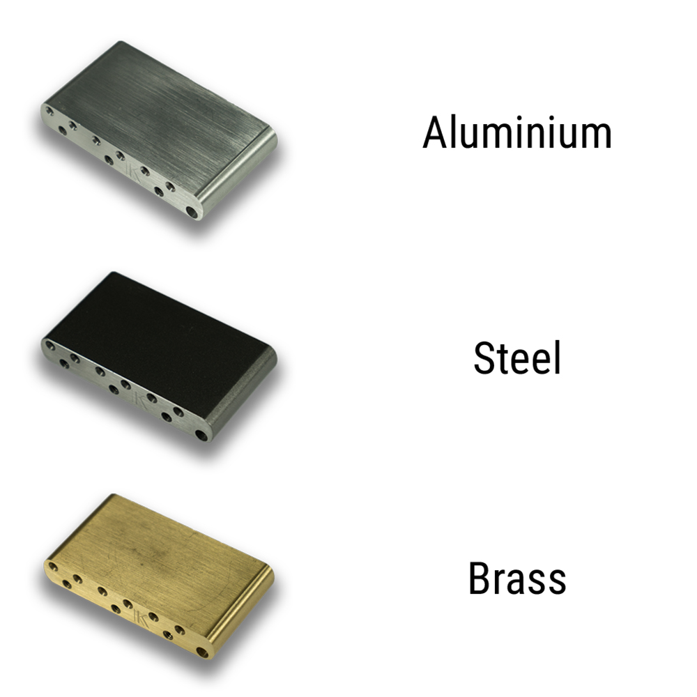 Kluson Milled Aluminum, Steel, Or Brass Sustain Block For Vintage Tremolos