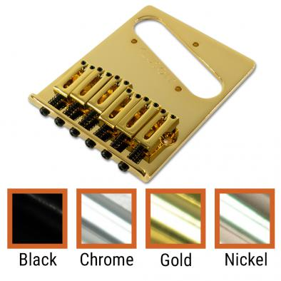 Kluson® Contemporary Replacement Bridge For Fender Telecaster® With Brass Or Steel Saddles