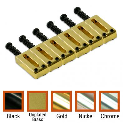 Kluson® Contemporary Brass Saddle Set For Fender® Telecaster®