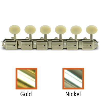 Kluson® 6 On A Plate Left Hand Deluxe Series Tuning Machines