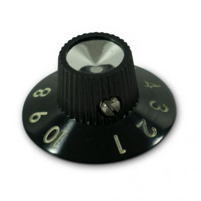 Kluson Black Skirted Amplifier Knob Set