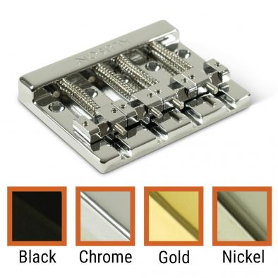 Kluson® High Mass 4 String Bass Bridge Zinc With Brass Saddles