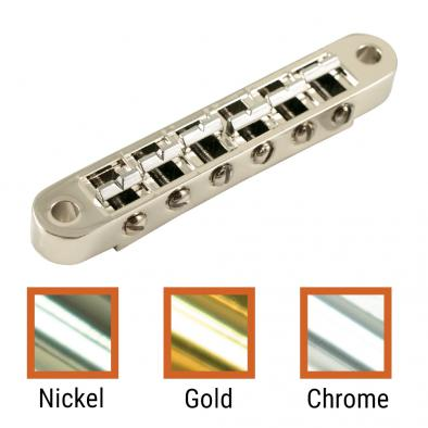 Kluson USA® Replacement Aluminum, Brass, Steel, Or Zinc Nashville Tune-O-Matic Bridge With Brass Saddles
