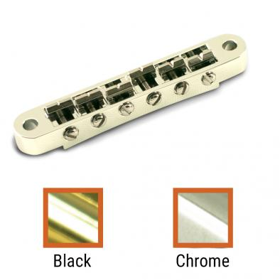 Kluson USA® Replacement Left Hand Zinc Nashville Tune-O-Matic Bridge With Brass Saddles