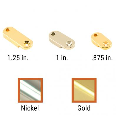 Kluson USA® Brass Archtop Pickguard Bracket Foot