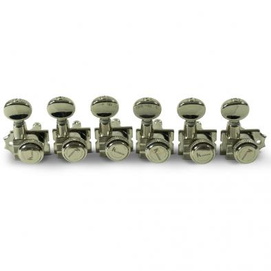 Kluson® 6 In Line Locking Revolution Series H-Mount Tuning Machines With Staggered Posts