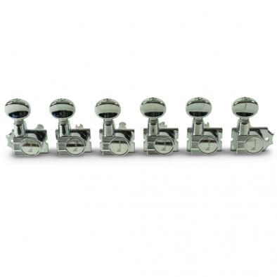 Kluson® 6 In Line Revolution Series H-Mount Tuning Machines With Staggered Posts