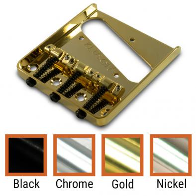 Kluson® Vintage Replacement Bridge For Fender Telecaster® Steel With Brass Intonated Saddles