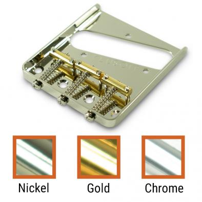 Kluson® Left Hand Vintage Replacement Bridge For Fender Telecaster® Steel With Brass Saddles