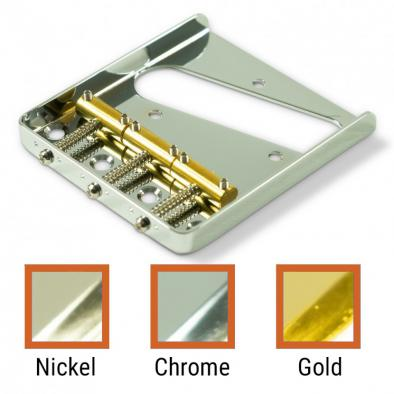 Kluson USA® Replacement Bridge For Left Hand Fender® Telecaster® Steel With Brass Saddles