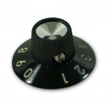 Kluson Black Skirted Amplifier Knob Set