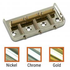 Kluson USA® Replacement Half Size Bridge For Fender Telecaster® Steel With Brass Saddles