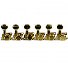 Kluson® 6 In Line Locking Revolution Series F-Mount Tuning Machines For Fender® Guitars