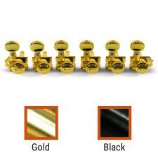 Kluson® 6 In Line Locking Revolution Series H-Mount Non-Collared Tuning Machines