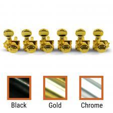 Kluson® 6 In Line Locking Revolution Series H-Mount Tuning Machines
