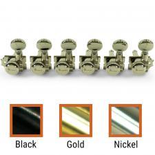 Kluson® 6 In Line Left Hand Locking Revolution Series H-Mount Tuning Machines