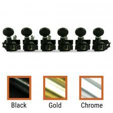 Kluson® 6 In Line Revolution Series H-Mount Non-Collared Tuning Machines