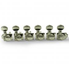 Kluson® 6 In Line Revolution Series H-Mount Non-Collared Tuning Machines With Staggered Posts